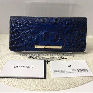 Brahmin Ady Wallet SAPPHIRE MELBOURNE Leather NEW